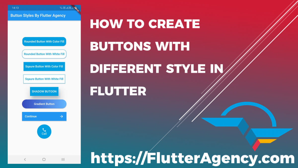 how to create buttons with different style in flutter