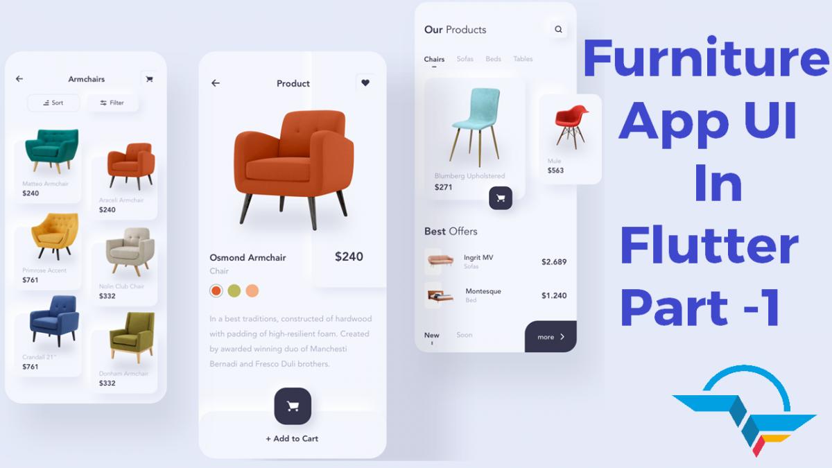 Furniture App UI in Flutter - Part 1