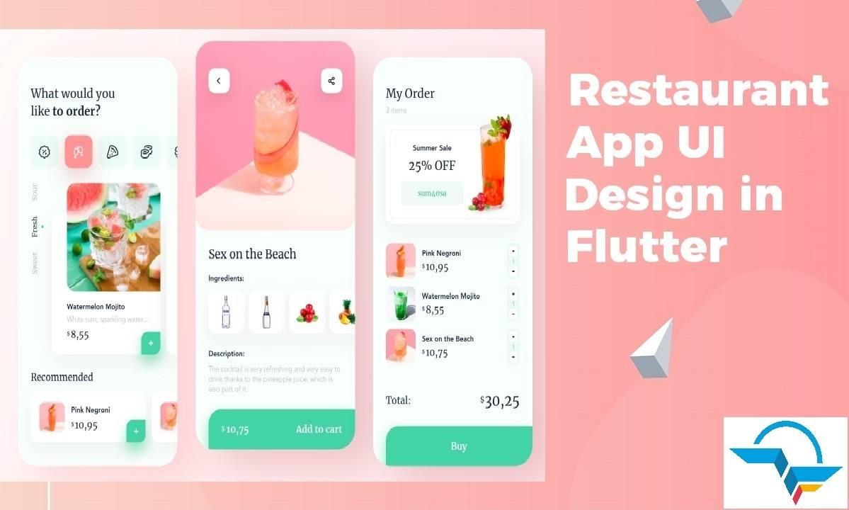 Restaurant App UI In Flutter