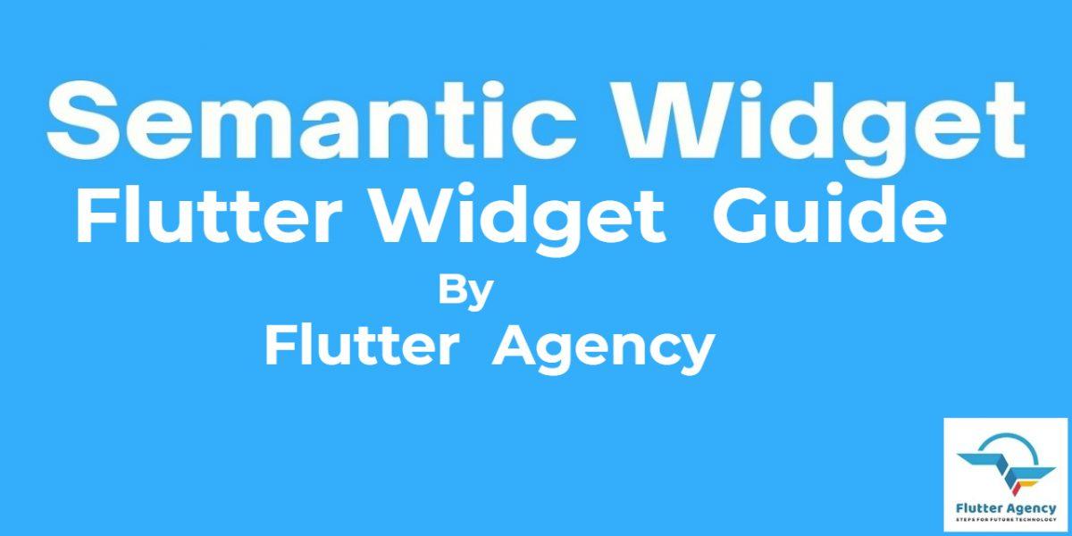 Semantic Widget - Flutter Widget Guide By Flutter Agency