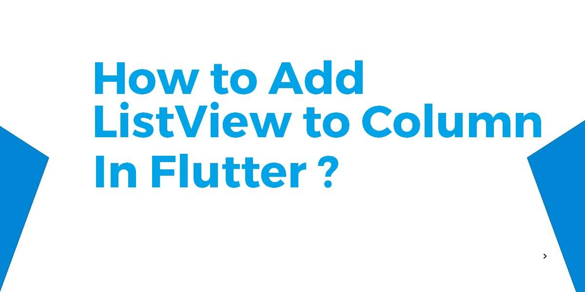 Add ListView to Column in Flutter
