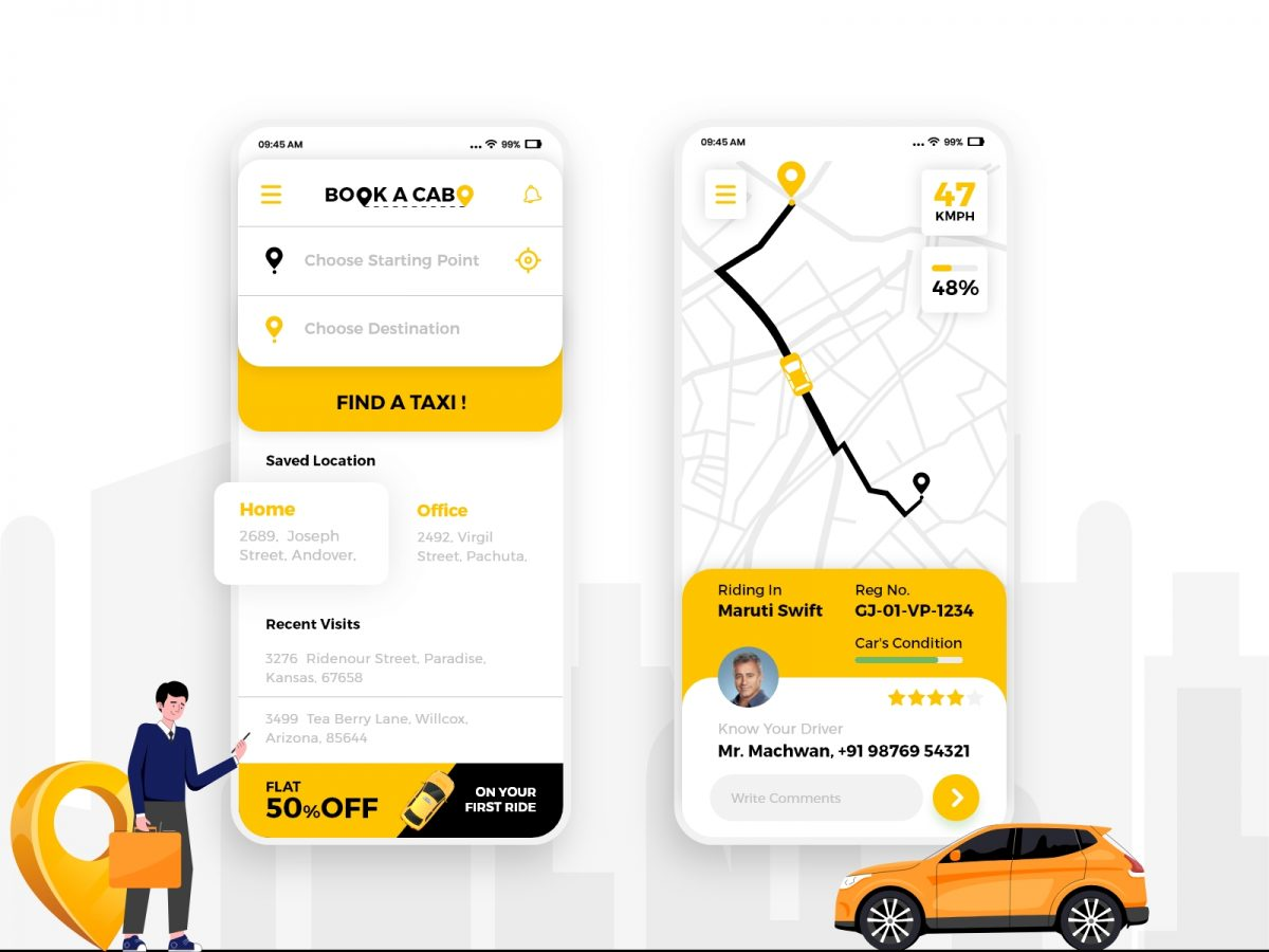 Cab Booking Application In Flutter