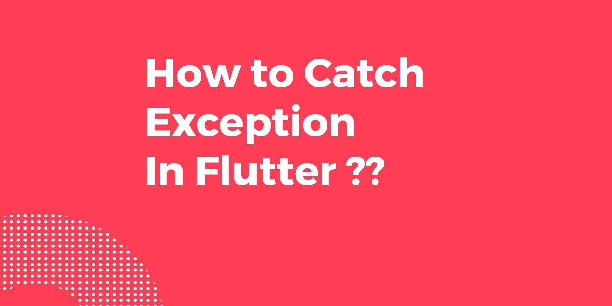 How to Catch Exception In Flutter