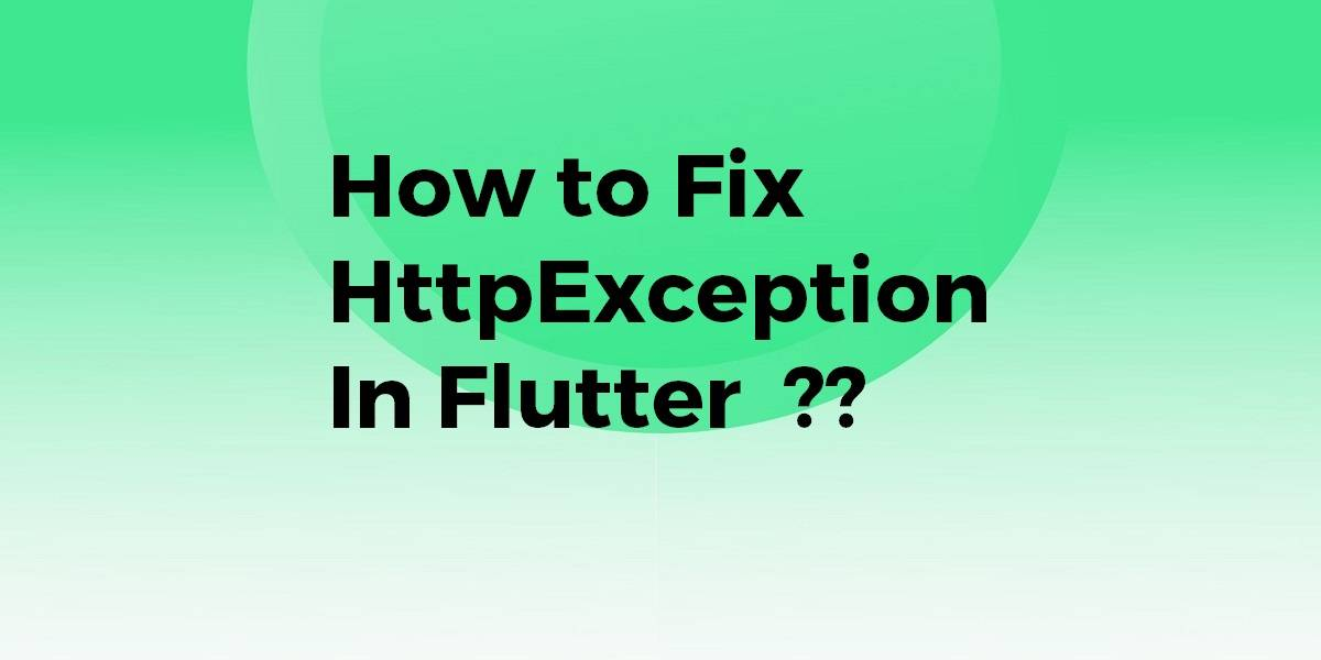 How to Fix HttpException In Flutter