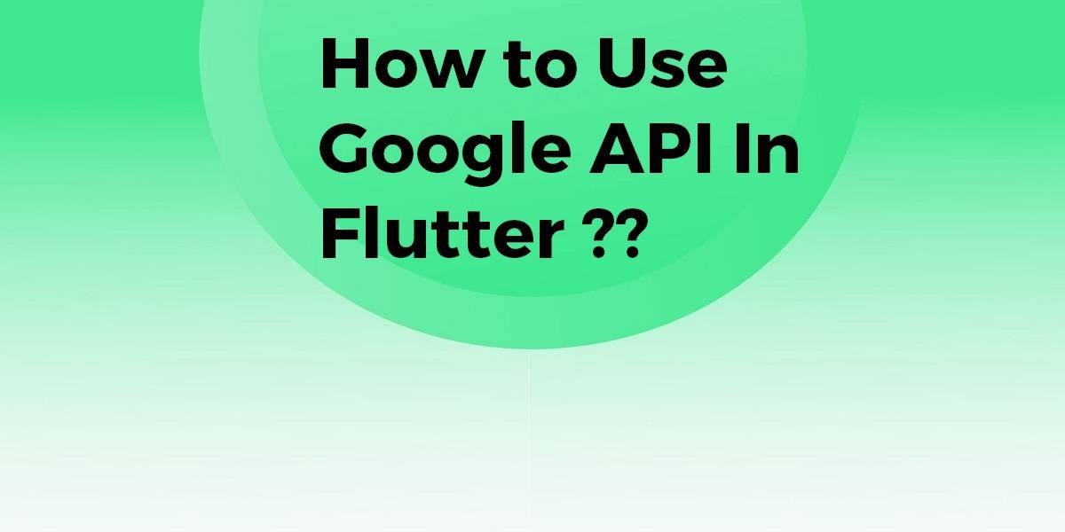 How to Use Google API In Flutter