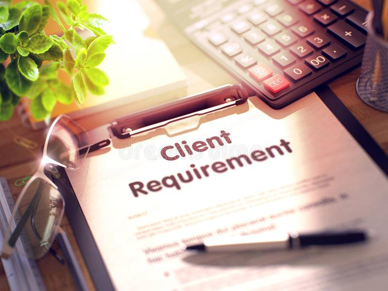 Clients Requirement